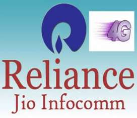 Reliance jio company , Male and female candidet