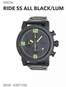 Nixon Ride ss all black/lum