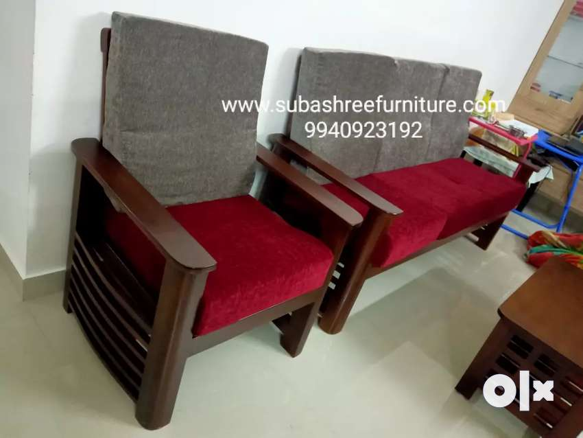 Teak wood sofa set brand new subashree furniture factory 0
