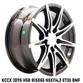 Harga velg KCCX JD76 HSR R15X65 H5X114,3 ET35 BMF