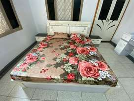 Queen size Bed with side tables