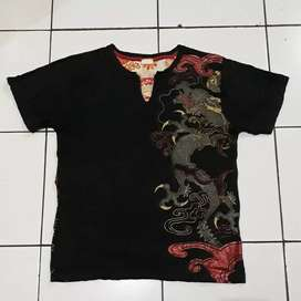 SPACE OPERA Sukajan Cotton T Shirt Naga