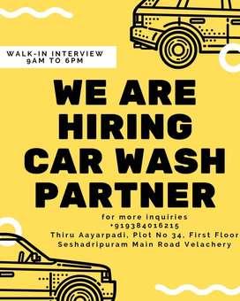 Morning Part time Job Car washing