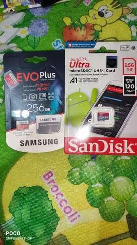 SR Micro SD Sandisk 256GB dan 128GB Garansi Resmi ASTARINDO