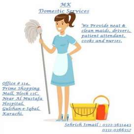 WE PROVIDE HOUSE MAID BABY SITTER EXPERT COOk DRIVER'S