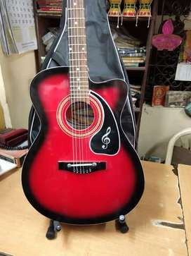New branded Acoustic guitar with amazing sound quality & proper tuning