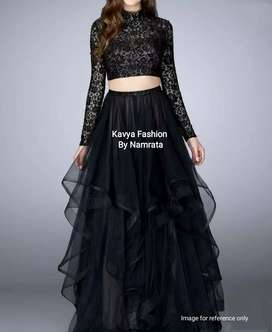 Gorgeous black Indo Western Dress
