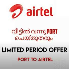 AIRTEL PORTING 2 MONTH OFFER.. At your door step