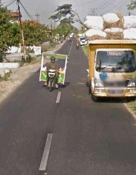 Tanah 3370 muka 20m tepi Jl.Janti Galgondo 1,6M