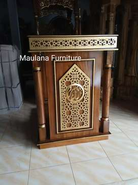 Mimbar jati furniture podium