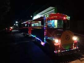 RF22 odong kereta mini wisata teruji full lampu unggulan iiw