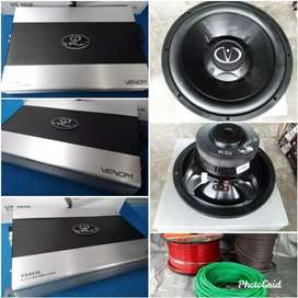 Power dan subwoofer virus by venom plus pasang