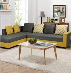 Elegant designed L-shape sofa