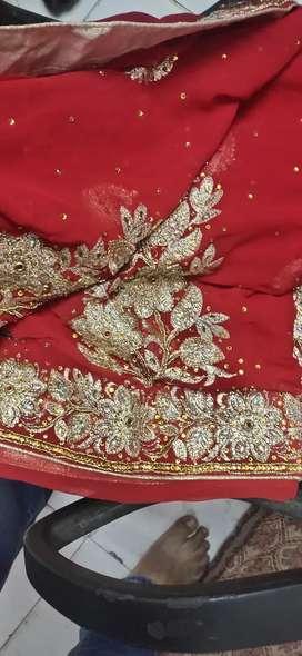 Hand embroided Saree