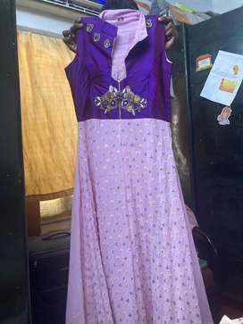 Lavender color gown