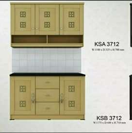 1 set kitchen set atas bawah knock down free antar pasang