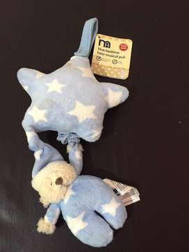 mothercare blue bad time bear musical pull new