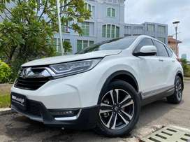 HONDA CRV 1.5 PRESTIGE TURBO 2017/2018 WHITE ON BLACK KM rendah