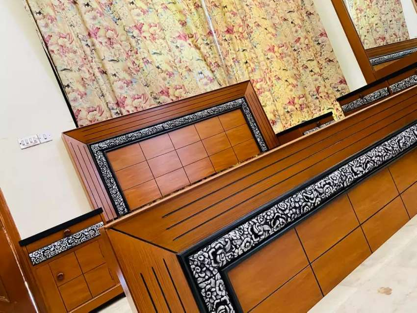 Luxurious Bed set With double color and all home furniture sofa table 0
