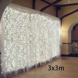 LED Lampu Gorden Dekorasi Wedding Fairy Light 3x3Meter 300 LED