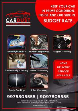 Car upholstery cleaning and detailing