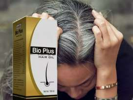 White hair permanent black with special hair oil