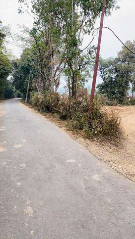 Road side plot for sale with 23 mtr facing front