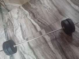 Dumbbells with rod 20 kg total weight