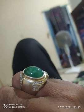 Batu zamrud ring perak