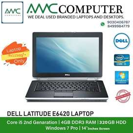 Dell E6420,Corei5,2ndGen,320GB,4GB,DVDRW,Cam,Wifi only at Rs10999/-
