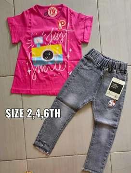 Setelan Koas+Celana Jeans