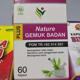 Nature Herbal penggemuk badan herbal alami