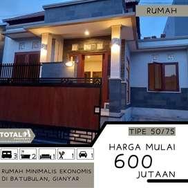 Rumah Minimalis Harga Ekonomis di Batubulan Gianyar dekat Denpasar