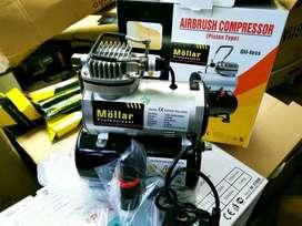 PAKET Mini Kompresor Mollar + Pen Air Brush Kit - Compressor Oilless