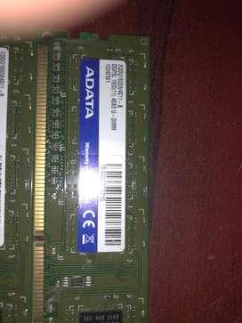 ADATA 2x 4Gb DDR3 ram 1600 Mhz