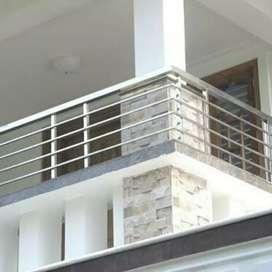 Railing tangga dan balkon stainles cantik masakini