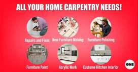 CARPENTER SERVICE AVAILABLE in all Sectors islamabad