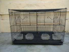 Bird cage with partition and other accessories