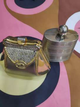 Ladies imported hand  carry Metal purce.
