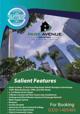 Golden Chance To invest in LDA approved Project Save your Investment.