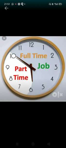 Part time/Full time both apply(HR Payal)(Back office)No charges