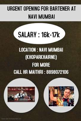 Job available for Bartender
