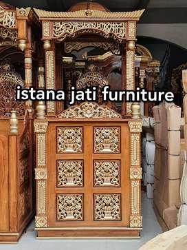 Mimbar masjid kubah elegan ( bahan kayu jati solid berkualitas )