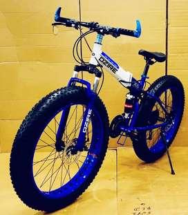 Dzire fat tyre 21 gear shimano taruni  fat foldable cycle new
