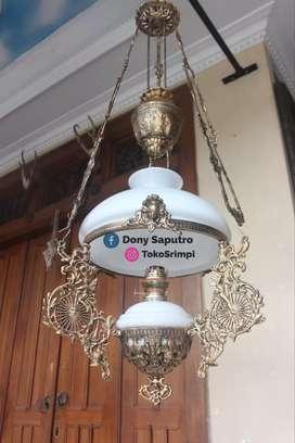 Lampu Gantung Meja Jawa - Dekorasi Hiasan Cafe Rumah Hotel