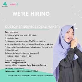 Lowongan Customer Service Deal Maker