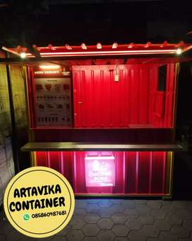 BOOTH SEMI CONTAINER BOOTH USAHA CHESEE TEA BOOTH JUALAN