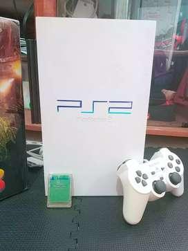 Ps2 Fat putih multifungsi bisa kaset dan hdd 160 Gb full games