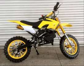 Dirt Bike For Kids Age 5-13 Petrol 50cc Yellow And Red