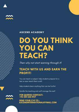 Tutors/Teachers for Academy - Commission based